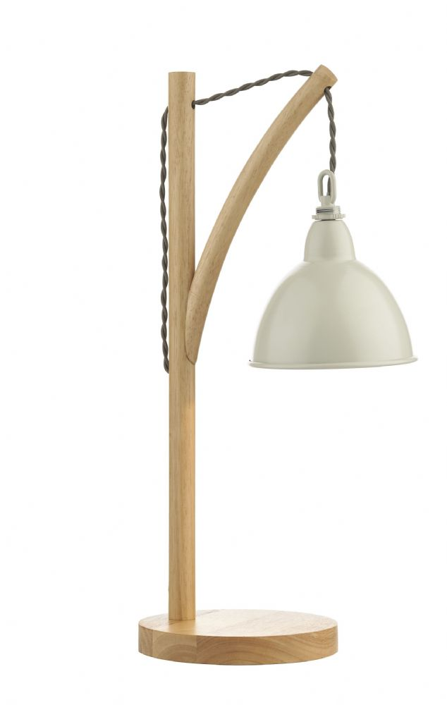 Dar Blyton 1 Light Table Lamp complete with Painted Shade BLY4243 (Class 2 Double Insulated)